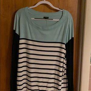 Talbots striped light weight sweater